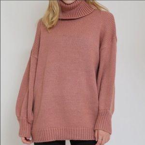 Sweaters - Blush Turtleneck